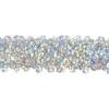 Sequin Stretch 3-row Hologram silver
